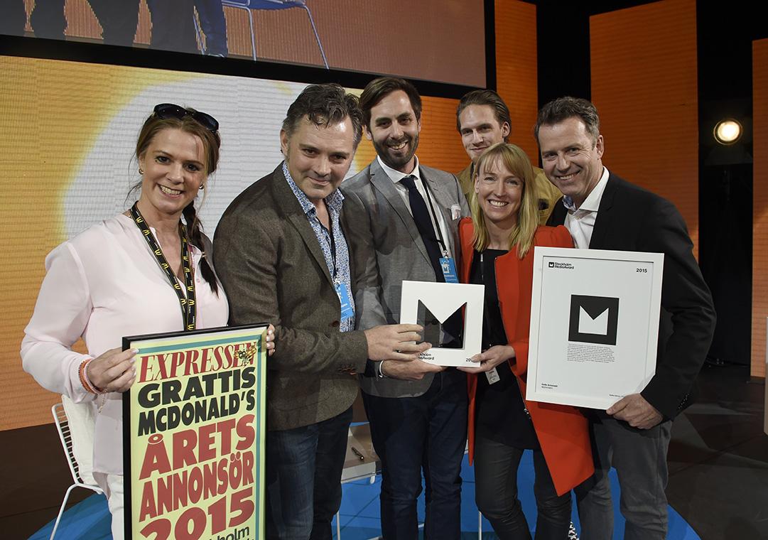Stockholm Media Week 2015. Årets Annonsör är McDonalds. Foto Anna Hållams