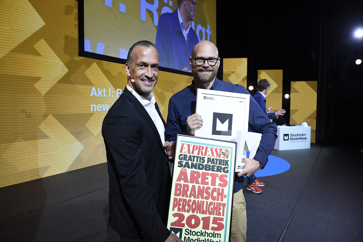 Årets Branschpersonlighet 2015 - Patrik Sandberg